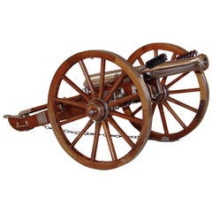 Fine Model of Civil War 12 Pound Steel and Wood Cannon
