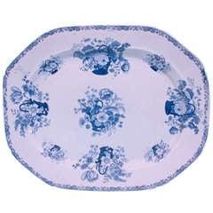 A Mason's Ironstone Blue and White Transferware Platter