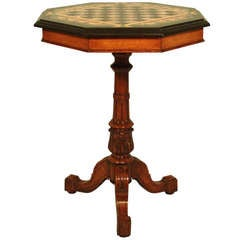 English Specimen Marble-Top Games Table