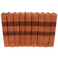 "9 Volumes by George Buffon ""Natural History of Birds"""