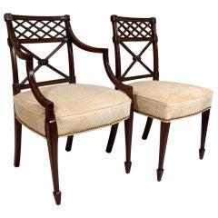 Set of 8 George III mahogany dining chairs