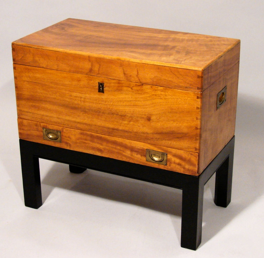 Small chinese export camphor wood chest on stand at stdibs