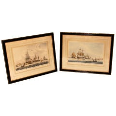 Pair of Maritime Aquatints by Edward Orme