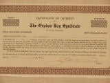 Certificate for The Orphan Boy Syndicate image 3
