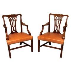 Set of Twelve George III  Mahogany Dining Chairs