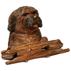Swiss Terrier Head Desk Stand
