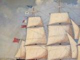 English Watercolor of a  Sailing Ship image 5