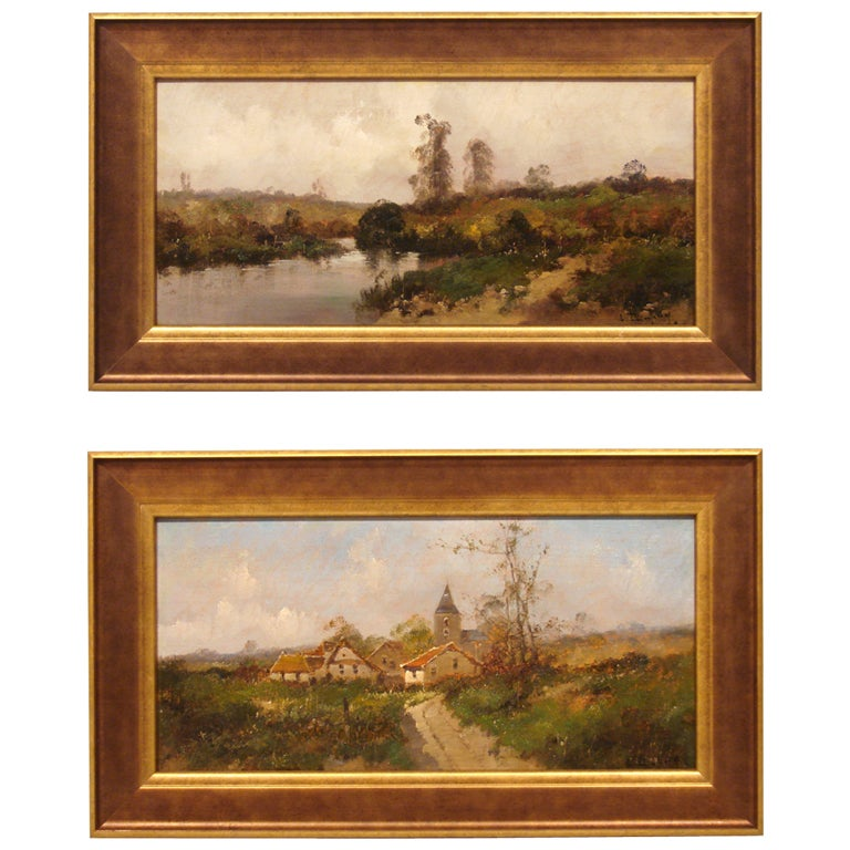 Pair of French Oil on Boards by Eugene Galien-Laloue