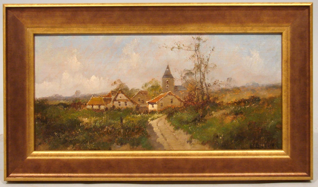 Pair of French Oil on Boards by Eugene Galien-Laloue In Excellent Condition In San Francisco, CA
