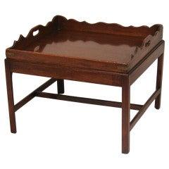 English Mahogany Butler's Tray on Stand