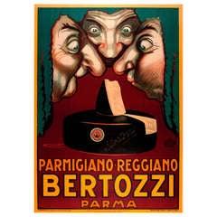 Vintage Italian Cheese Poster Advertisement