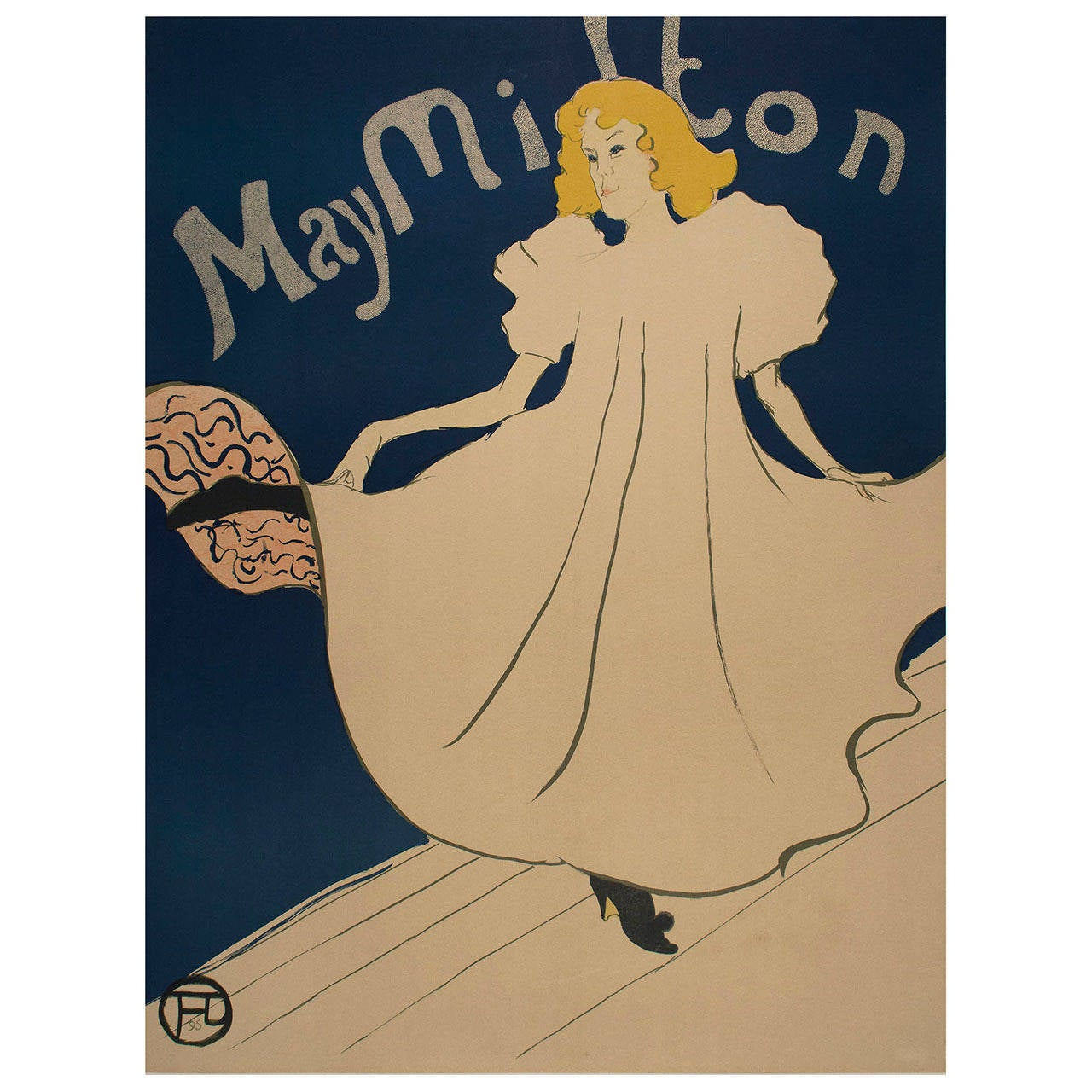 original poster by toulouse lautrec of may milton for sale at 1stdibs. Black Bedroom Furniture Sets. Home Design Ideas