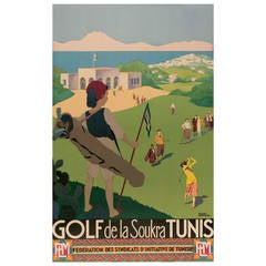 Original Roger Broders Golf Travel Poster