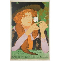 Original French Art Nouveau Exhibition Poster by DeFeure