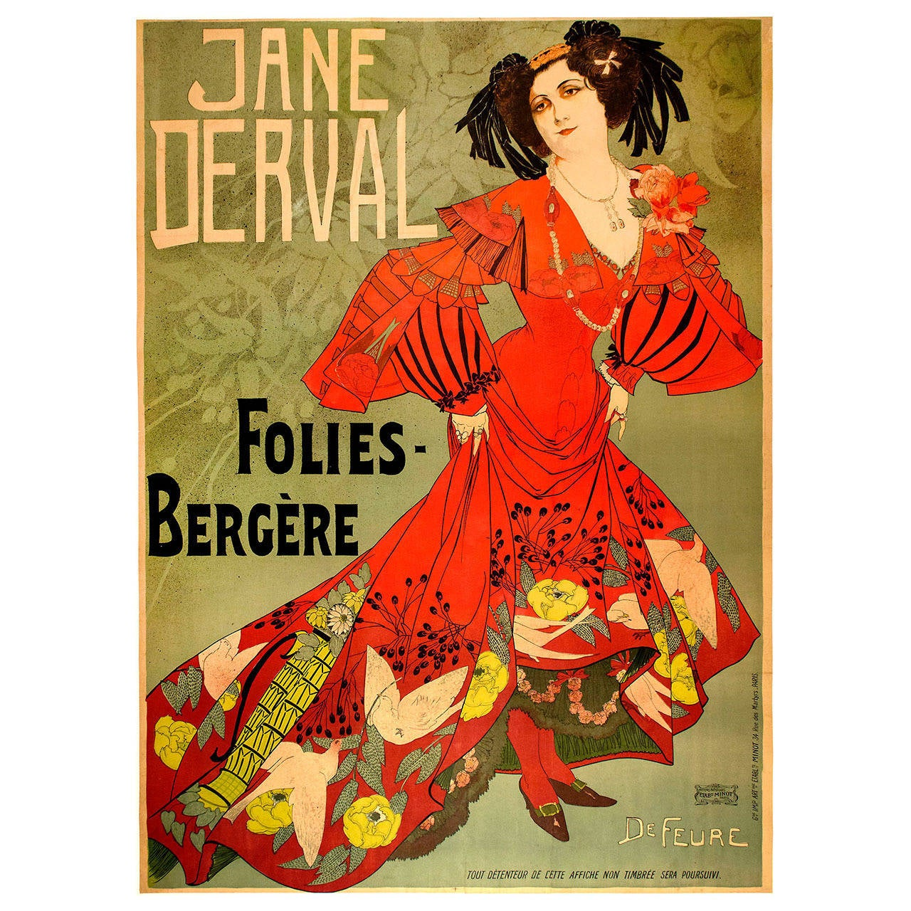 Original Poster for the Folies-Bergere by de Feure