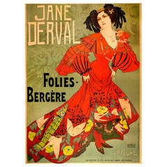 Original Poster for the Folies-Bergere by de Feure