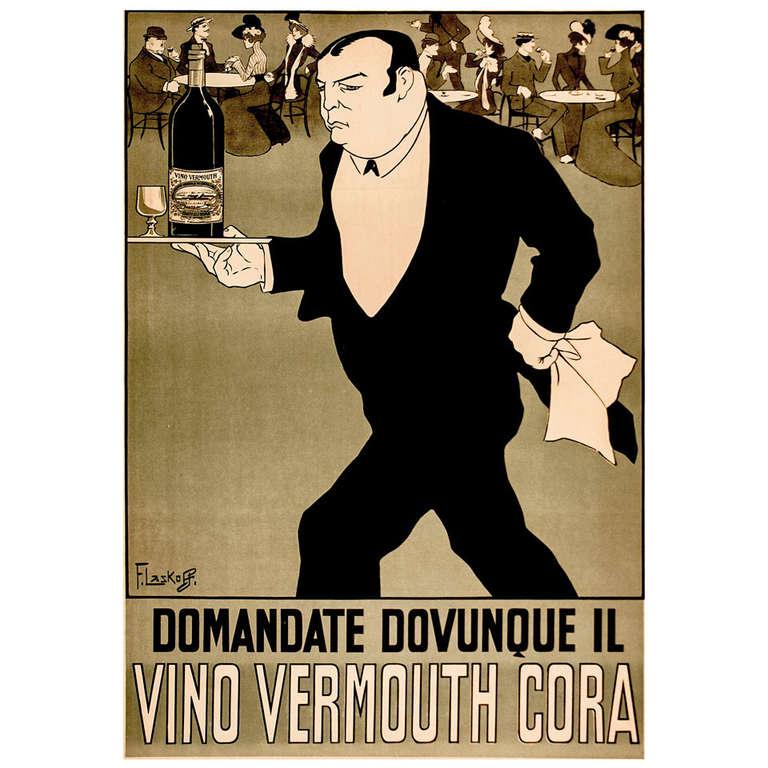 Original Italian Wine Poster Framed