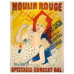 Original Cheret Moulin Rouge Poster