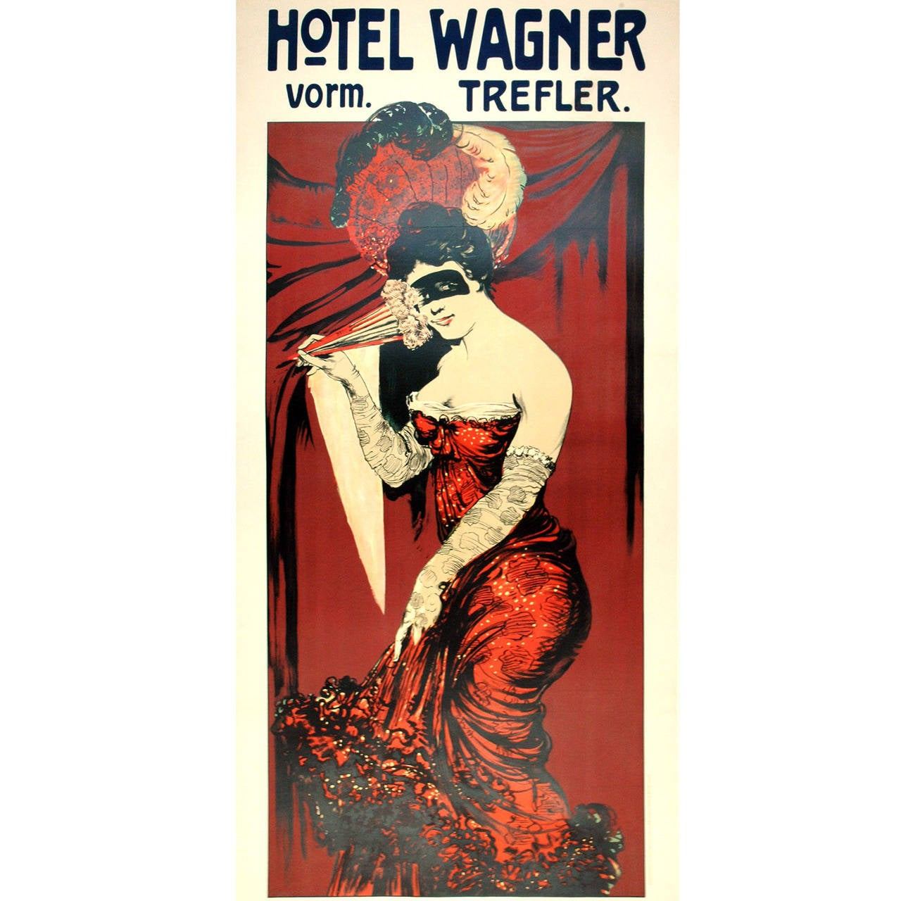 Hotel Wagner Fashion Advertising Poster For Sale at 1stdibs
