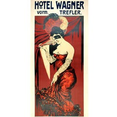 Hotel Wagner Fashion Advertising Poster