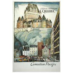 Original Chateau Frontenac Hotel Poster