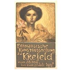 Original Steinlen Avant-Garde Poster