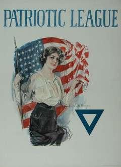 Vintage Patriotic League Poster