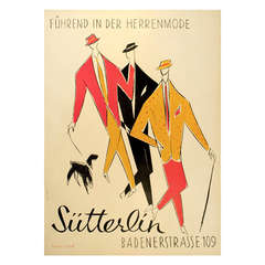 Vintage Swiss Men's Clothier Poster