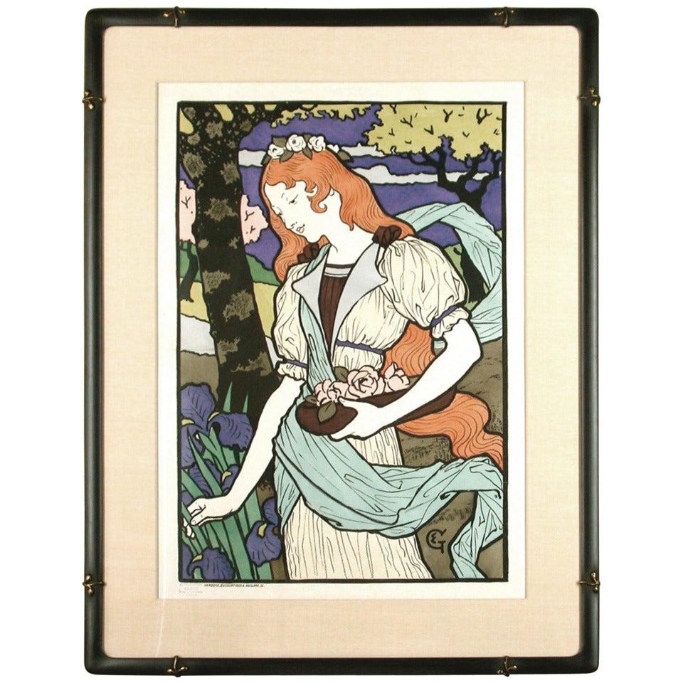 Original Grasset Lithograph Poster