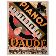 Original Poster for Piano Advertisement