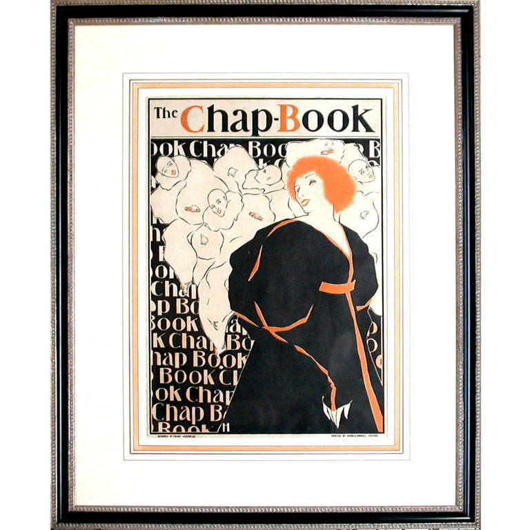 Vintage Framed Chap-Book Advertisement Poster For Sale At
