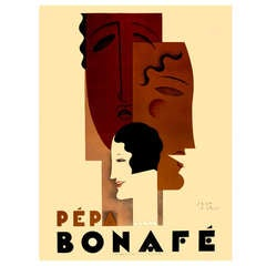 Rare Large Format Art Deco Poster