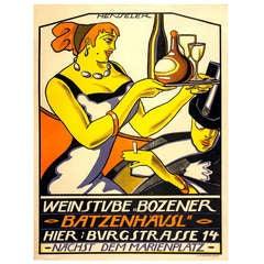 Stylized Avant Garde Restaurant Poster