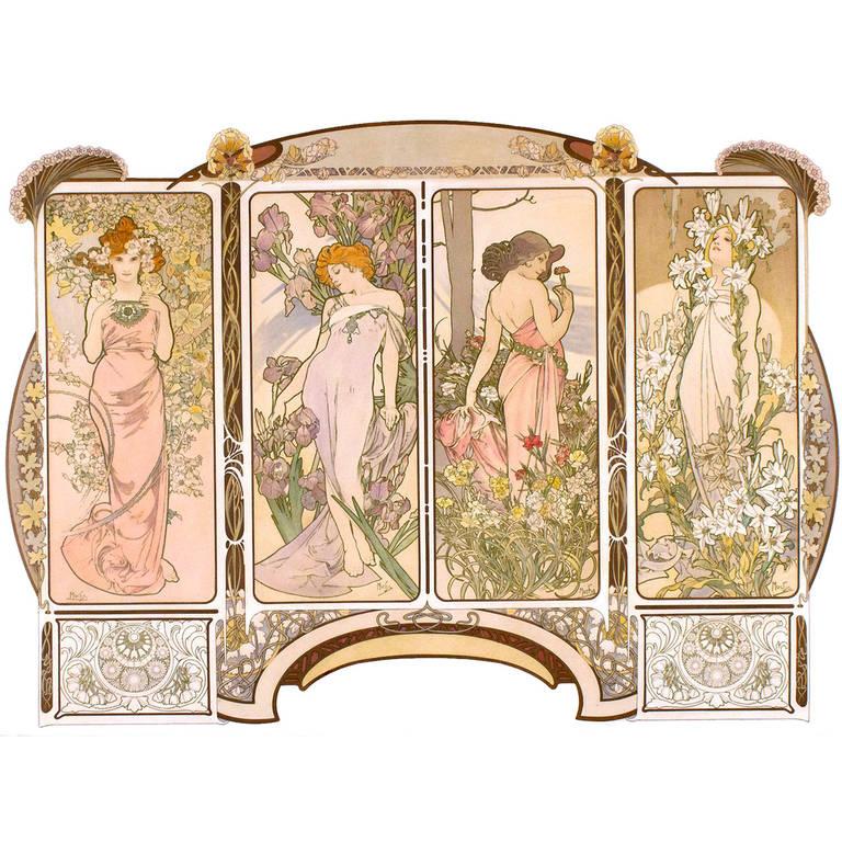 Original Decorative Panels Poster by Mucha