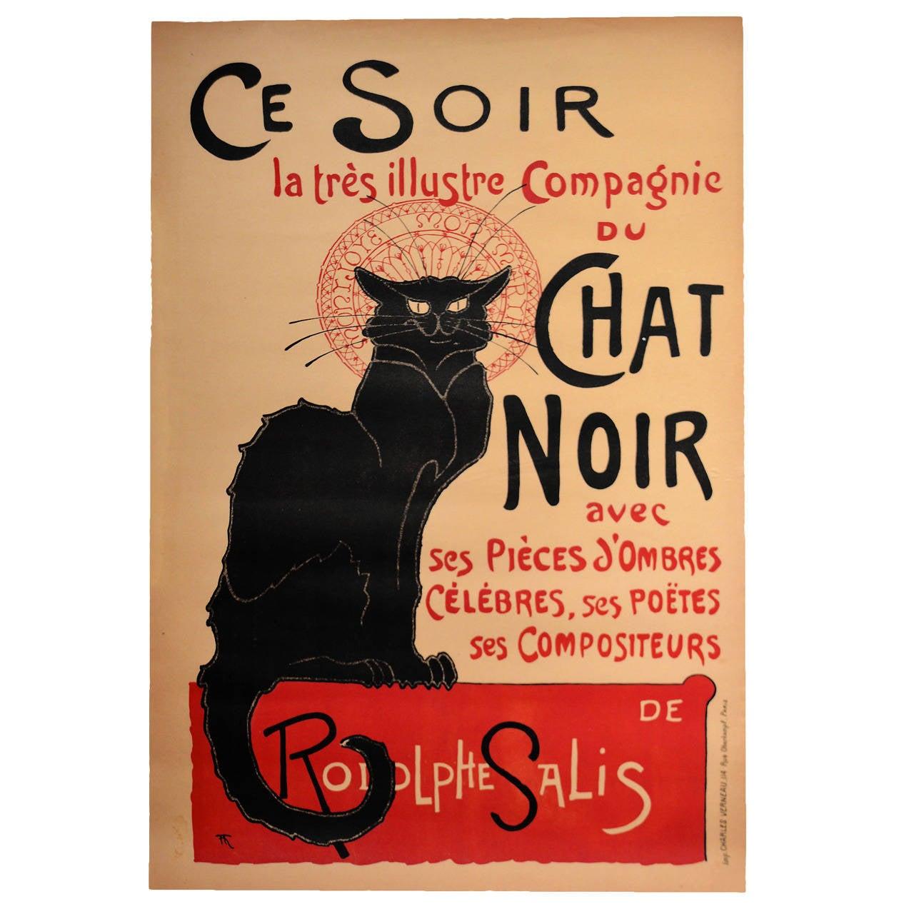 Original Steinlen Chat Noir Poster For Sale