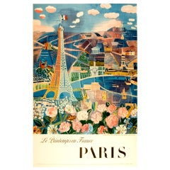 Paris in the Spring - Vintage travel poster