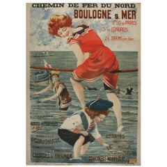 Poster Advertisting French Seaside Resort
