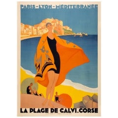 Original Art Deco Travel poster by Roger Broders