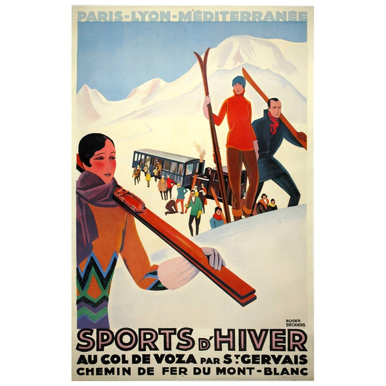 Original Art Deco Travel Poster by Roger Broders For Sale