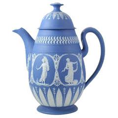 Adams Blue and White Jasper Coffee Pot
