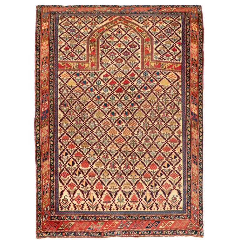Prayer Rug Types: Antique Marasali Shirvan Prayer Rug At 1stdibs