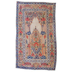 18th Century Ottoman Applique and Embroidered Textile with Blue and Red Tones