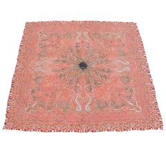 Late 19th Century Red Kashmir Shawl