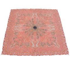 Late 19th Century Red Kashmir Shawl