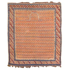 Late 19th Century Red Shirvan Prayer Rug with Paisleys