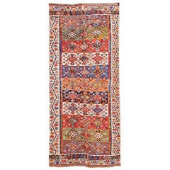 19th Century Red, Green, and Blue Reyhanli Kilim Rug