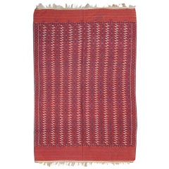 Late 19th Century Red Tekke Flat-Woven Main Carpet