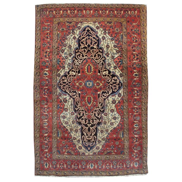 Antique Ferehan Sarouk Rug At 1stdibs