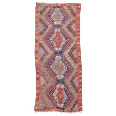 Mid 19th Century Multi-Colored Anatolian Kilim Rug