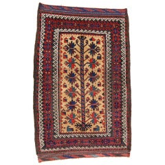 Late 19th Century Red Persian Baluch Small Rug with Camel Field